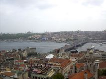 πορθμείο Κωνσταντινούπολη γεφυρών bosphorus που περνά την Τουρκία Στοκ Εικόνες