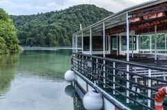 Πορθμείο στις λίμνες Plitvice Στοκ Εικόνες