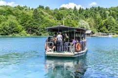 Πορθμείο στις λίμνες Plitvice Στοκ φωτογραφίες με δικαίωμα ελεύθερης χρήσης
