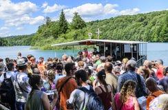 Πορθμείο στις λίμνες Plitvice Στοκ Φωτογραφίες