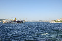 Πορθμείο στο bosphorus της Κωνσταντινούπολης, Τουρκία Στοκ Εικόνα