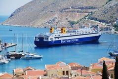 Πορθμείο Diagoras, νησί Symi Στοκ φωτογραφία με δικαίωμα ελεύθερης χρήσης