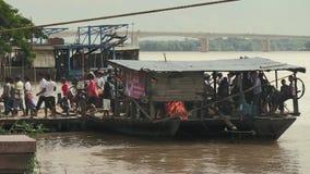 Πορθμείο, mekong, Καμπότζη, Νοτιοανατολική Ασία απόθεμα βίντεο