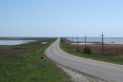 Πορθμείο Yasenskaya - μια στενή λουρίδα του εδάφους που χωρίζει τη λίμνη Khan και τη θάλασσα Azov Στοκ Εικόνες