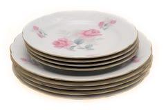 πορσελάνη πιάτων Στοκ Εικόνες