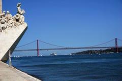 Πορτογαλία, Λισσαβώνα, μνημείο στις ανακαλύψεις της Λισσαβώνας, DOS Descobrimentos Padrao στοκ φωτογραφία με δικαίωμα ελεύθερης χρήσης