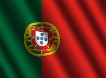 πορτογαλικές κυματώσεις σημαιών ελεύθερη απεικόνιση δικαιώματος