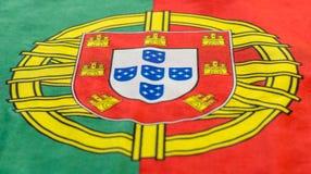 Πορτογαλική εικόνα σημαιών ακόμα από μια μπροστινή άποψη Στοκ φωτογραφία με δικαίωμα ελεύθερης χρήσης