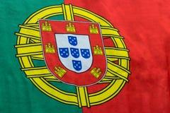 Πορτογαλική εικόνα σημαιών ακόμα από μια πλάγια όψη Στοκ Φωτογραφίες