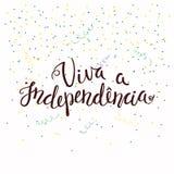 Πορτογαλικό απόσπασμα ανεξαρτησίας Viva απεικόνιση αποθεμάτων