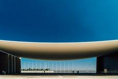 Πορτογαλικό εθνικό περίπτερο στη Λισσαβώνα από το Alvaro Siza Vieira Στοκ Φωτογραφία