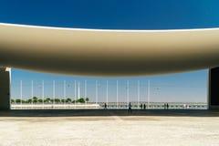 Πορτογαλικό εθνικό περίπτερο στη Λισσαβώνα από το Alvaro Siza Vieira Στοκ εικόνες με δικαίωμα ελεύθερης χρήσης