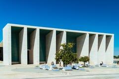 Πορτογαλικό εθνικό περίπτερο στη Λισσαβώνα από το Alvaro Siza Vieira Στοκ Εικόνα
