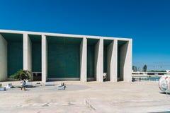 Πορτογαλικό εθνικό περίπτερο στη Λισσαβώνα από το Alvaro Siza Vieira Στοκ Φωτογραφίες