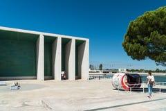 Πορτογαλικό εθνικό περίπτερο στη Λισσαβώνα από το Alvaro Siza Vieira Στοκ φωτογραφίες με δικαίωμα ελεύθερης χρήσης