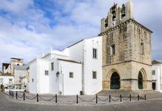 Πορτογαλία, Αλγκάρβε, παλαιός καθεδρικός ναός πόλης SE Faro Στοκ εικόνα με δικαίωμα ελεύθερης χρήσης