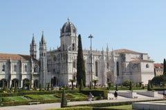 Πορτογαλία, Λισσαβώνα, άποψη του μοναστηριού Jeronimos Στοκ Φωτογραφίες