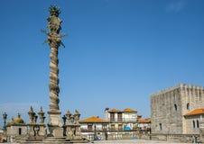 Πορτογαλία, Πόρτο, χαρασμένος επαίσχυντος κλοιός πετρών για την τιμωρία Στοκ Εικόνα