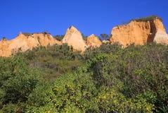 Πορτογαλία, πλευρά DA Caparica, απολιθωμένο φυσικό πάρκο Arriba Στοκ φωτογραφία με δικαίωμα ελεύθερης χρήσης