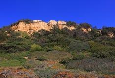 Πορτογαλία, πλευρά DA Caparica, απολιθωμένο φυσικό πάρκο Arriba Στοκ Φωτογραφίες