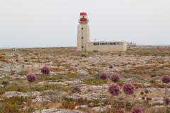 Πορτογαλία, φάρος στο ακρωτήριο Sagres Στοκ Εικόνες