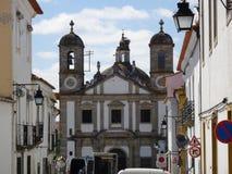 Πορτογαλία, Evora, άποψη της εκκλησίας Στοκ Φωτογραφία