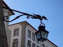 Πορτογαλία, Evora, φανάρι στο παλαιό σπίτι Στοκ Φωτογραφίες