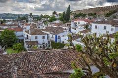 Πορτογαλία, Obidos - αστικό χωριό και το κάστρο Στοκ φωτογραφία με δικαίωμα ελεύθερης χρήσης