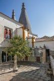 Πορτογαλία, Sintra Προαύλιο του βασιλικού παλατιού Στοκ Φωτογραφίες