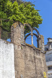 Πορτογαλία, vora à ‰ Πέτρινες σπίτια και οδοί, που στρώνονται με την πέτρα Στοκ εικόνα με δικαίωμα ελεύθερης χρήσης