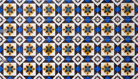 Πορτογαλικά διακοσμητικά azulejos κεραμιδιών Στοκ Φωτογραφίες