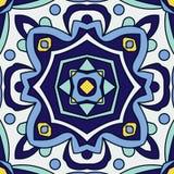 Πορτογαλικά κεραμίδια azulejo πρότυπα άνευ ραφής Στοκ Εικόνες