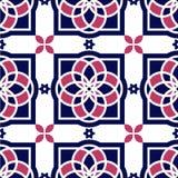 Πορτογαλικά κεραμίδια azulejo πρότυπα άνευ ραφής Στοκ Φωτογραφίες