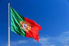 Πορτογαλική σημαία Στοκ Φωτογραφίες