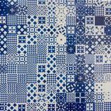 Πορτογαλικό υπόβαθρο κεραμικών κεραμιδιών Azulejo Στοκ εικόνα με δικαίωμα ελεύθερης χρήσης