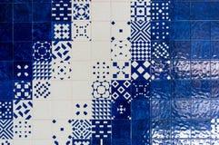 Πορτογαλικό υπόβαθρο κεραμικών κεραμιδιών Azulejo Στοκ φωτογραφία με δικαίωμα ελεύθερης χρήσης