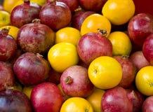 Πορτοκάλια και ρόδια Στοκ εικόνα με δικαίωμα ελεύθερης χρήσης