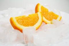 Πορτοκάλια πέρα από τον πάγο Στοκ Εικόνες