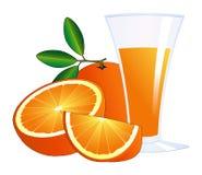 πορτοκάλια χυμού γυαλι&o Στοκ Φωτογραφίες