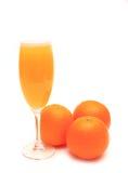 πορτοκάλια χυμού γυαλι&o Στοκ Εικόνες
