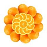 πορτοκάλια 1 λουλουδι& Στοκ Εικόνες