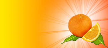 πορτοκάλι ανασκόπησης κίτρινο Στοκ Εικόνα