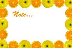 πορτοκάλι ανασκόπησης μήλων Στοκ Φωτογραφία