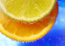 πορτοκάλι ασβέστη ν Στοκ φωτογραφία με δικαίωμα ελεύθερης χρήσης