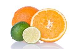 πορτοκάλι ασβέστη στοκ φωτογραφίες