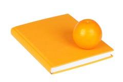 πορτοκάλι βιβλίων κίτριν&omicron Στοκ Φωτογραφία