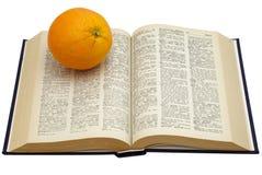 πορτοκάλι βιβλίων Στοκ Εικόνες