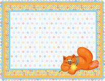 πορτοκάλι γατών καρτών μωρώ&n ελεύθερη απεικόνιση δικαιώματος