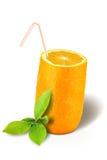 πορτοκάλι γυαλιού Στοκ εικόνα με δικαίωμα ελεύθερης χρήσης