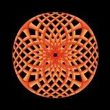 πορτοκάλι δικτυωτού πλέγματος Στοκ Εικόνα